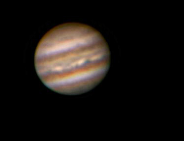 jupiter_b - Taken with a Celestron Neximage in a C8 barlowed to ~F/23. 600 frames stacked in Registax. Taken in mediocre seeing conditions - but looks very much how one would see it through the eyepiece on an average night.