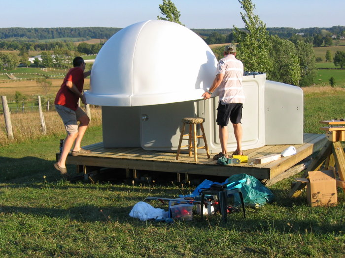 The Budget Astronomer Pod Personal Observatory Dome
